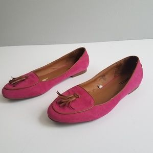 merona 10 hot pink loafers with tassel